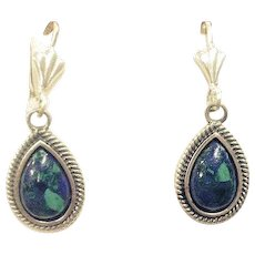 Silver Eilat stone earrings