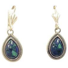Silver Eilat stone earrings