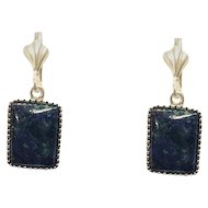 Silver Eilat stone -King Solomon's Earrings.
