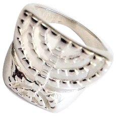 Sterling Silver Menorah Ring.