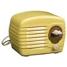 1938 Niagara Metal case AM Radio Model 422