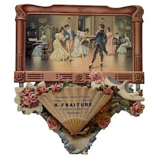 Large Victorian 3D Embossed Chromolithograph Advertising Cardboard