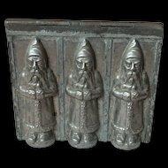 Rare Triple St. Nicholas Riecke & Co. Chocolate Mold Marked Germany