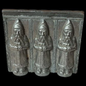 Rare Triple St. Nicholas Riecke & Co. Chocolate Mold Marked Germany