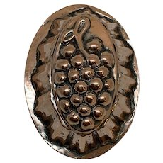 Miniature Copper Grape Mold c.1910