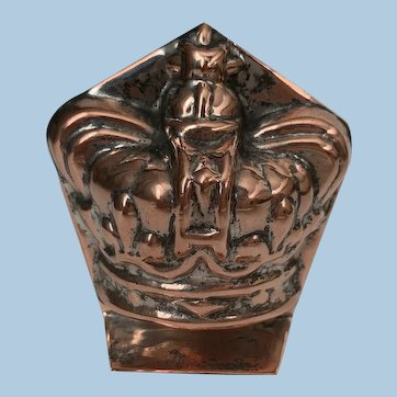 19th Century Miniature Copper Crown Culinary Mold London