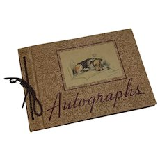 Sweet Vintage Autograph Book c1940 Unused