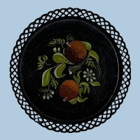 Sweet Petite Reticulated Toleware Tray