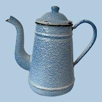 Vintage French Enamel Spatter Coffee Pot