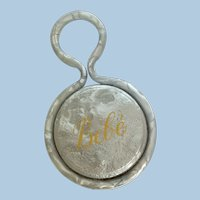"""Vintage French Celluloid Baby Rattle """"Bebe"""""""