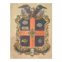 Incredible Commemorative Civil War Lithograph