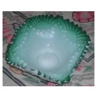 Unusual Satin Jade Bride Basket