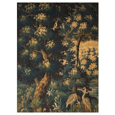18th Century Verdure Aubusson Tapestry