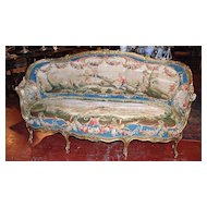 French Sofa a' Corbeille with Aubusson