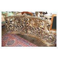 Highly Carved Pair of Italian Balusters