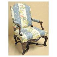 Louis XV Style Walnut Armchair