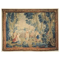 Beautiful French 18th C. Aubusson Tapestry