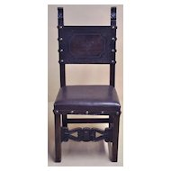 Handsome set of Six Henri II Style Dining Chairs