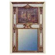 Painted & Parcel Gilt French Trumeau