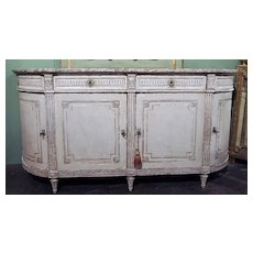 Wonderful Louis XVI Painted Buffet