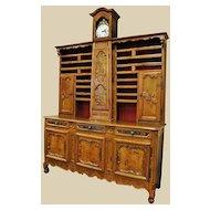 Rare 18th C. Peartree Clock Vaisselier