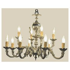 French Silverplated Chandelier