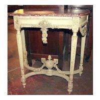 Louis XVI Marble Top Console