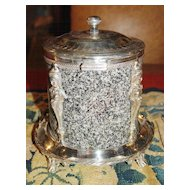Sweet Granite and Silver Plated Box
