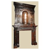 Exceptional French Walnut Mantel