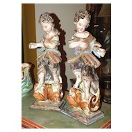 Pair of Baroque Style Archangels