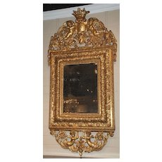 18th Century French Gilt Carved Mirror