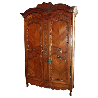 French 18th Century Fruitwood Armoire