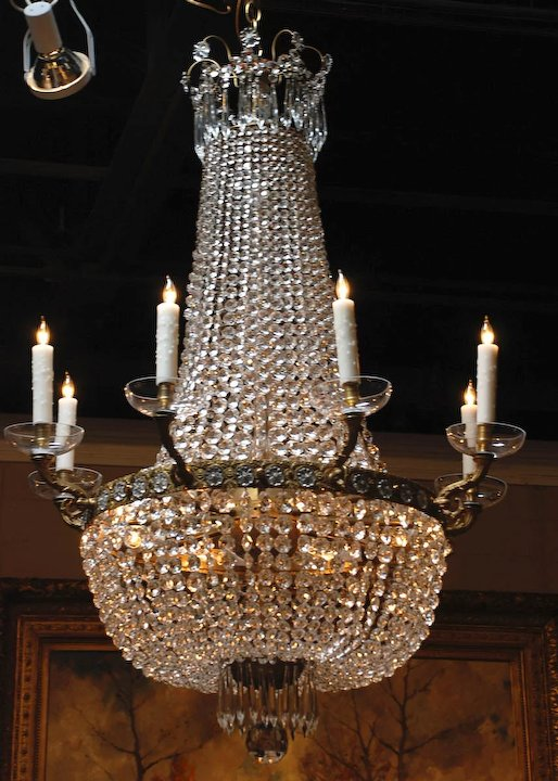Fabulous pair of montgolfier crystal chandeliers antiquing with fabulous pair of montgolfier crystal chandeliers aloadofball Choice Image