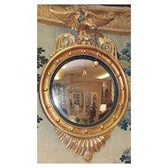 English Regency Eagle Convex Mirror