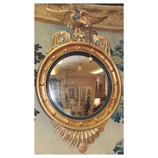English Regency Eagle Convex Mirror