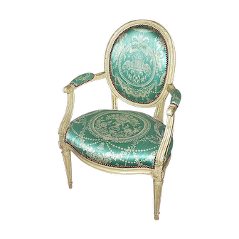 Set of Six French 18th Century Arm Chairs