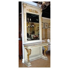 French Empire Style Mirror and Console