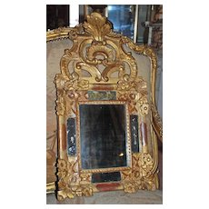 Nicely Carved French Regence Mirror