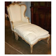 French Chair with Ottoman