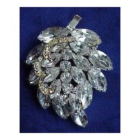 """Large Vintage """"Weiss"""" Leaf Shaped Pin"""