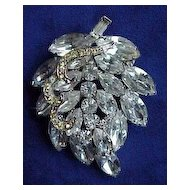 "Large Vintage ""Weiss"" Leaf Shaped Pin"