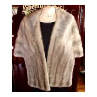 Lush Vintage Silver Gray Mink Stole