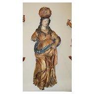 Spanish 17th C. Madonna