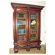 Portuguese Rosewood Bookcase