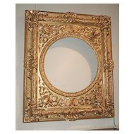 Large Baroque Carved Gilt Frame