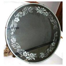 Etched Round Mirror