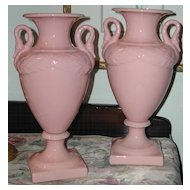 Ceramic Rose Colored Swan Lamp Bases