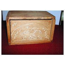 Primitive Hand Carved Eagle Butter Press