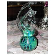 Regal Art Glass Seahorse Paperweight
