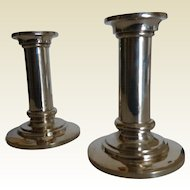Pair of solid Silver Candle Sticks